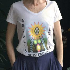 goddess temple t shirt,     v neck